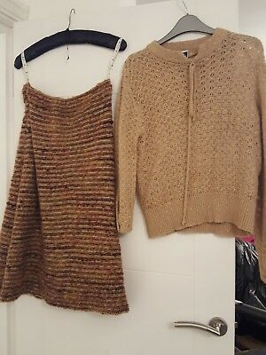 ladies knitted skirt suit, size 14