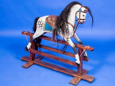 Stunning Antique Rocking Horse Ideal Christmas Gift Can Store For Christmas