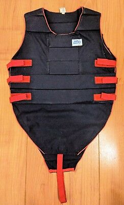 Classic airowear body protector, lightweight flexible, blue with red accents