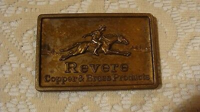 Vintage Advertising Desk Paperweight Revere Copper & Brass Products