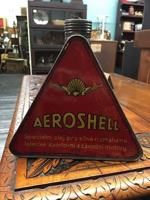 Aeroshell 1 Liter Triangle Oil Can Foreign Rare