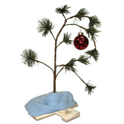 Peanuts Charlie Brown Musical Christmas Tree with Linus Blanket 24 Inch Red Bulb