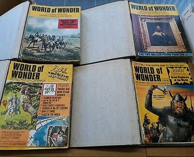 World of Wonder 6 Bound Volume Set Look and learn magazine war history discovery