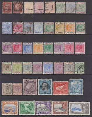 Early Cyprus selection, Various shades etc. Mint & Used Huge cat value. Ref-