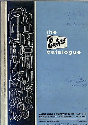 Vintage James Neill of Sheffield Eclipse Tools Catalogue Brochure 1967