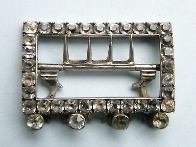 Georgian silver and paste Stock Buckle, probably late 18th Century