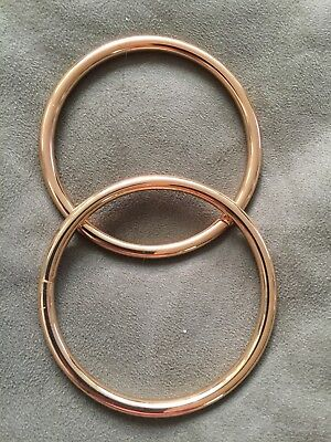 Pair of Strong Gold Solid Metal Rings for crafts, Curtain Display, jewellery etc