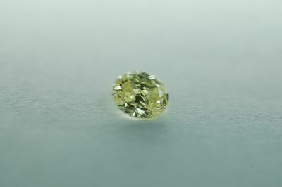 Lose natürliche(clarity enhanced) Diamant Oval 0.14 ct VS1/Champagne fur Schmuck