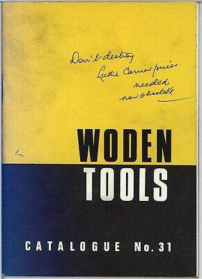 Vintage Woden Tools of Sheffield Catalogue Brochure & Price List No. 31 1967