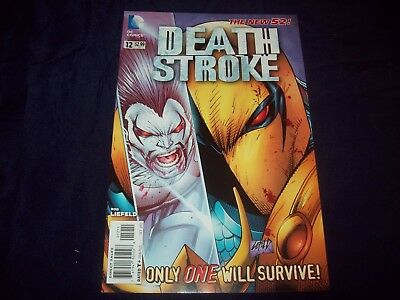 DEATHSTORKE #12 NEW 52 (2012) LOW-PRINT Rob Liefeld cover SCARCE