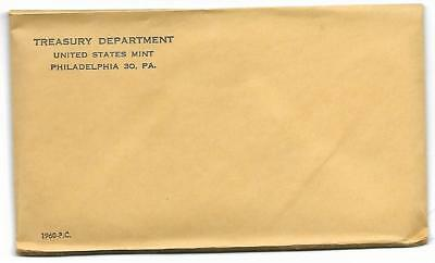 One 1960 US Silver Proof Coin Set - Original U.S. Mint Envelope Unopened