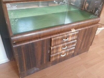 ART DECO Sideboard With Glass Display Shelves