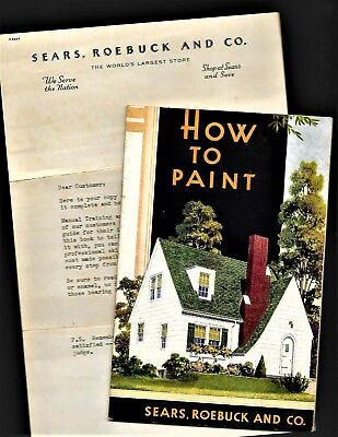 1939 Sears Roebuck How To Paint Booklet Paint Varnish Enamel Car Home St Louis