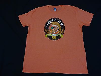 Nwt Shock Top Belgian White Anheuser Busch  Beer Bud T-Shirt New Large