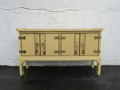 Hollywood Regency Oriental Inspired Buffet Credenza Sideboard by Fancher 8619
