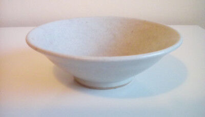 A fine Charles Vyse studio pottery bowl. Exhibited. Stoneware. Ash glaze.