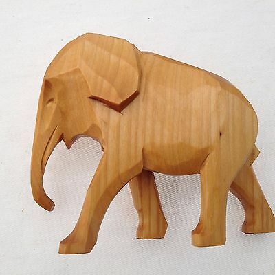 Wooden Baby Elephant Carving