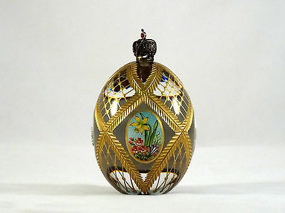 Theo Faberge St Petersburg Collection Ltd Edition Crystal 4 Seasons Egg Signed