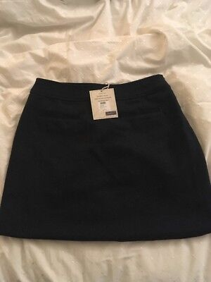 NWT Joules 'Fearne' Navy Tweed Skirt Size 12