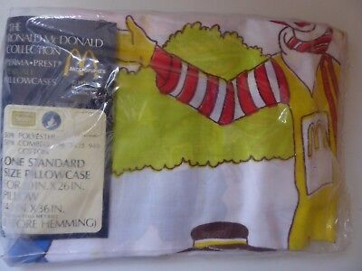 1970s Ronald McDonald Collection Sears Pillow Case NOS/In Pkg Officer Big Mac
