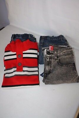 Lot of Pair Boy's Jeans Lined Sweater Size 12 : Gap Old Navy Levi's EUC or New
