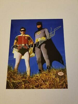 Batman TV Show Adam West / Burt Ward Autographed 8x10 W/COA