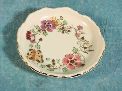 VINTAGE Zsolnay Pecs Hungarian Hand Painted Dish Plate Trinket Rare Numbered