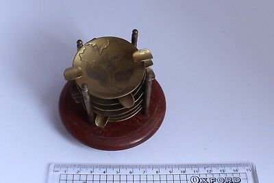 Thailand Ashtray with 6 Copper Trays