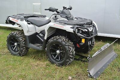 2016 Can Am Outlander 650 Xt Silver Edition Eps 4x4 Atv Full Snowplow