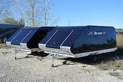 New Triton 12' Enclosed Snowmobile Trailer Tilt Style  Financing Available