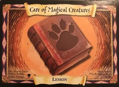 harry potter trading card game 2001 care of magical creatures 76/80