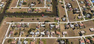 Cape Coral,Fort Myers,Florida Land,Lee County! FRESHWATER FRONT CANAL LOT !!!!!!