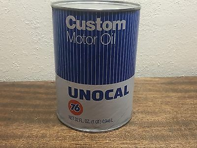 Vintage Unocal- Union 76- Custom Motor Oil- 40W quart can FULL! ~ 1970-80's