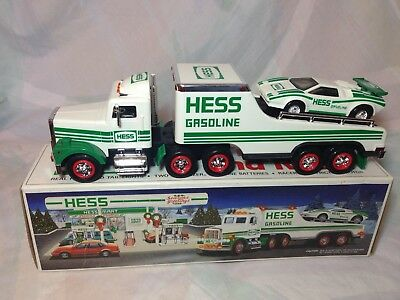 Collectible 1991 Hess Toy Truck and Racer Great Christmas Gift NEW