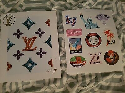 2017 Louis Vuitton VIP Holiday Book #7 with Sticker sheet