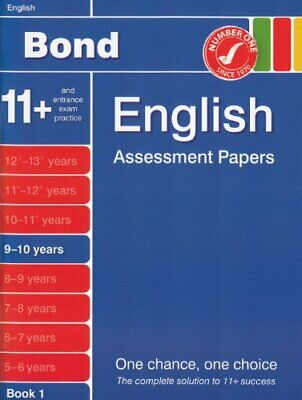 Bond Assessment Papers in English 9-10 years New E... by Sarah Lindsay Paperback