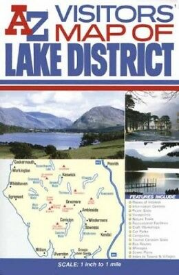 A-Z Lake District Visitors Map Sheet map, folded Book The Cheap Fast Free Post