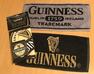 Guinness Bar Pub Towels (3) and Coasters (10)