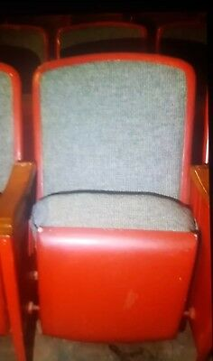 Movie Theater Seats Vintage Art Deco Antique THEATER CHAIRS. Local pick up only