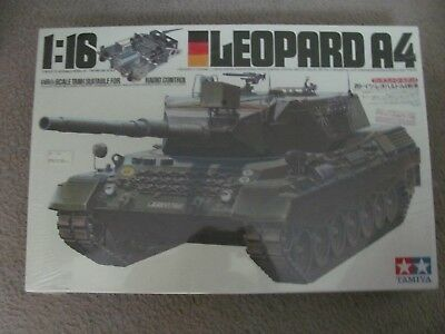 New & Sealed Tamiya 1/16 German Leopard A4 2 channel radio control tank kit