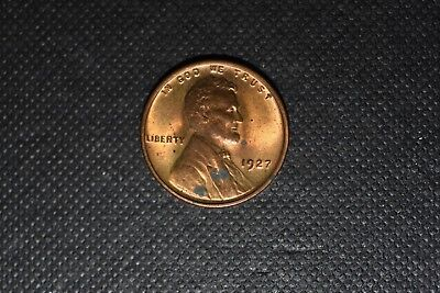 1927-P Lincoln Cent Unc Mostly Red