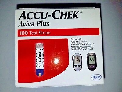 100 Accu-Chek Aviva Plus SEALED Test Strips Exp: 02//2019 SPECIAL!! Ships Free