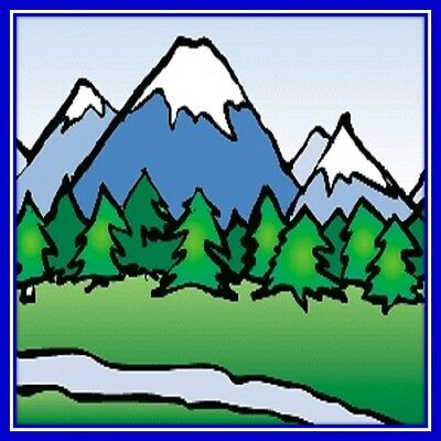 30 Custom Simple Mountain Art Personalized Address Labels