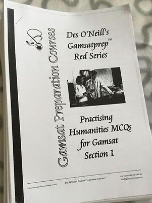 GAMSAT Des O'Neil1300 pages of Practice Questions&Ans+Science revision+mcq+More