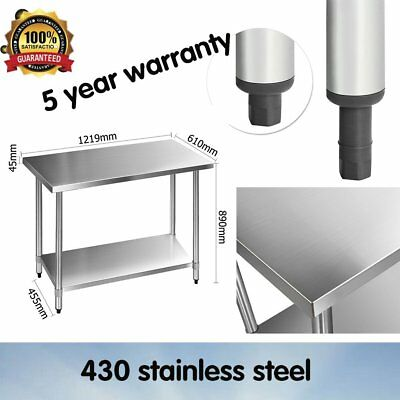 430 Stainless-Steel Restaurants Kitchen Work Bench Food Grade Table Long-Wearing