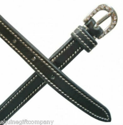 Mark Todd Leather Spur Straps Contrast Stitching and Diamante Buckles FREE SHIP