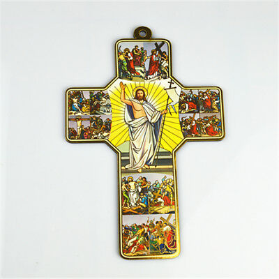 Wooden Religious Saint Crucifixes With Jesus Picture