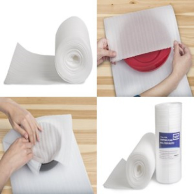 """Tapix Perforated Foam Roll Thick Shipping Mailing Packing Moving 12"""" x 70 x 1/16"""