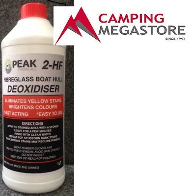 2Hf Boat Hull Deoxidizer 1L-  Eliminate  Yellow Stains From Fiberglass