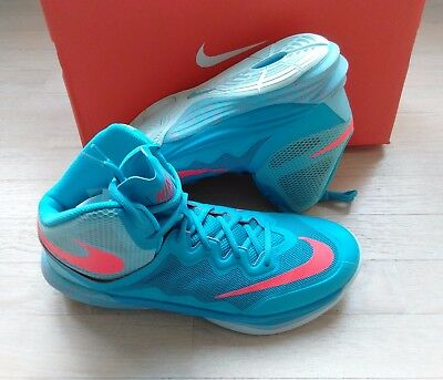 NIB! New in Box Nike Prime Hype DF II 2 Size 10 Blue Crimson Sneakers 806941-400